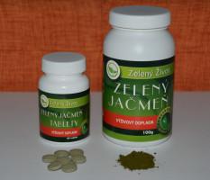 Zelený jačmen - tabletky alebo prášok